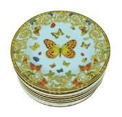 Ten Rosenthal Le Jardin de Versace Dishes / Plates