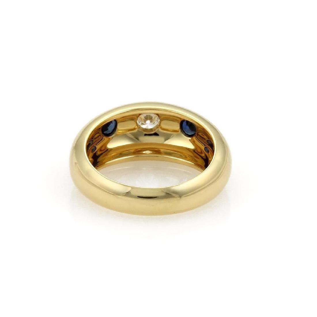 Cartier Gypsy Diamond Sapphire 18k Gold Dome Ring - 3
