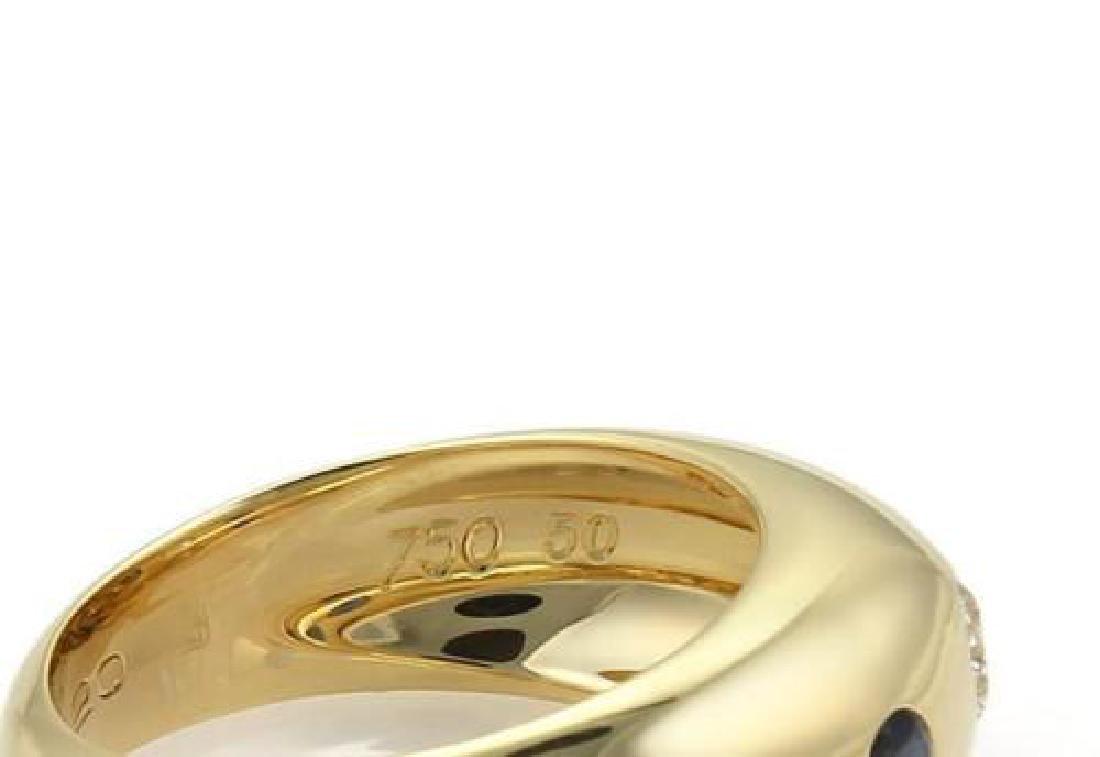 Cartier Gypsy Diamond Sapphire 18k Gold Dome Ring - 4