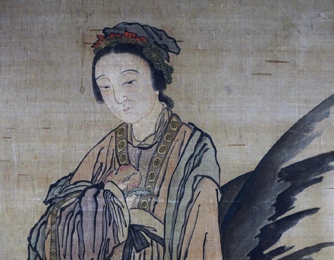 Impressive Antique Chinese Painting on Silk - 2