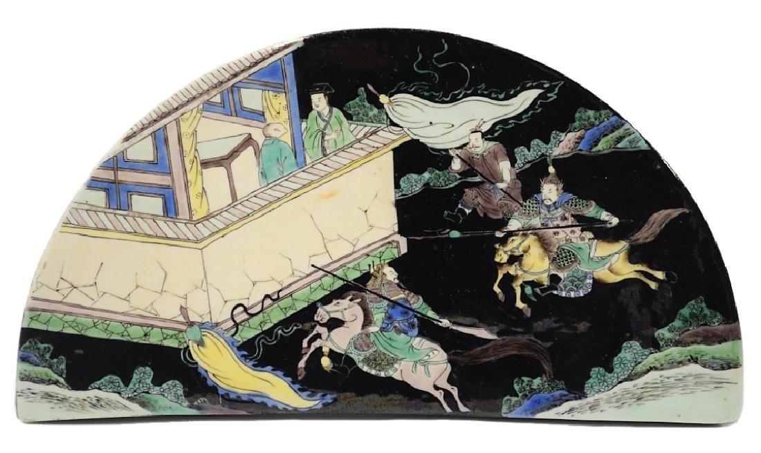 Chinese Famille Verte Decorative Porcelain Table