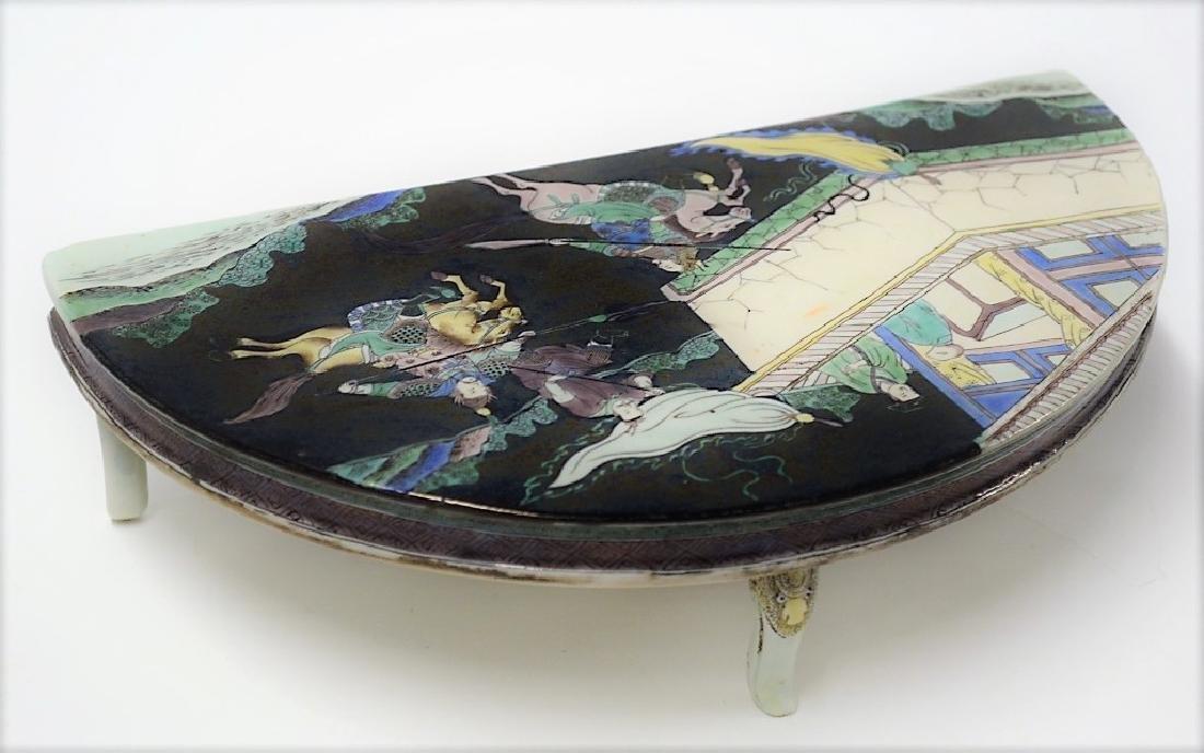 Chinese Famille Verte Decorative Porcelain Table - 2