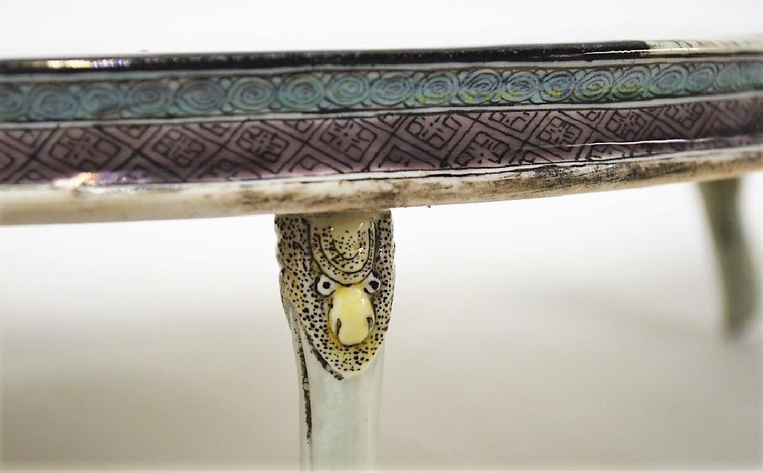 Chinese Famille Verte Decorative Porcelain Table - 6
