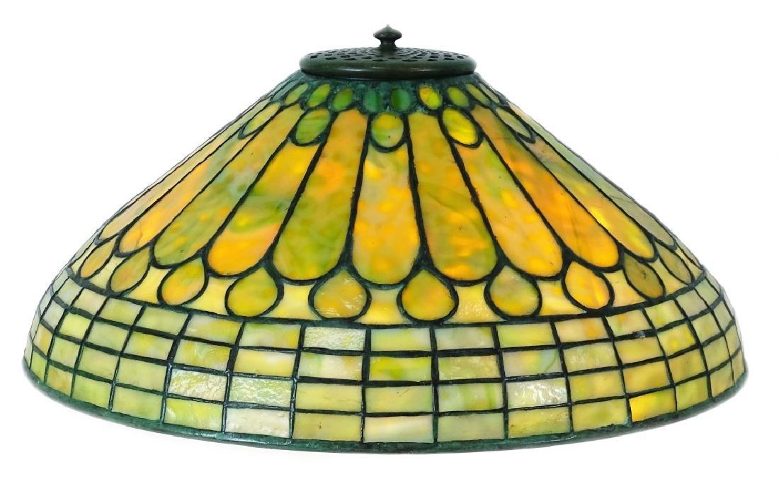 Tiffany Studios Roman Leaded Glass Bronze Lamp - 4