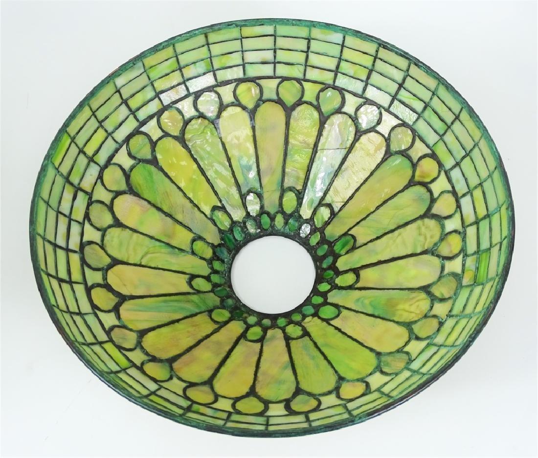 Tiffany Studios Roman Leaded Glass Bronze Lamp - 6