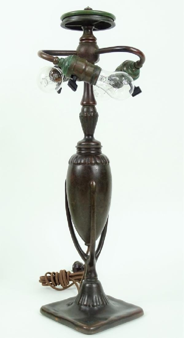 Tiffany Studios Roman Leaded Glass Bronze Lamp - 9