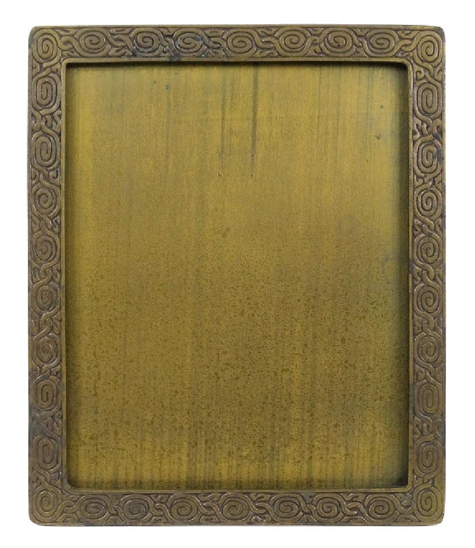 Tiffany Studios Zodiac Pattern Bronze Photo Frame