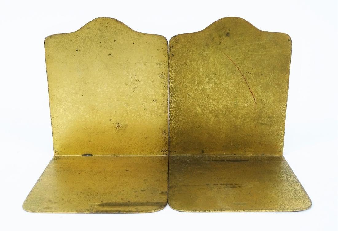 Pair of Tiffany Studios Zodiac Bronze Bookends - 3