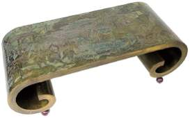 Philip & Kelvin LaVerne Bronze Scroll Coffee Table
