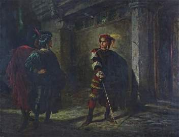 "Alphonse Marie de Neuville ""Valentine Challenges Faust"""