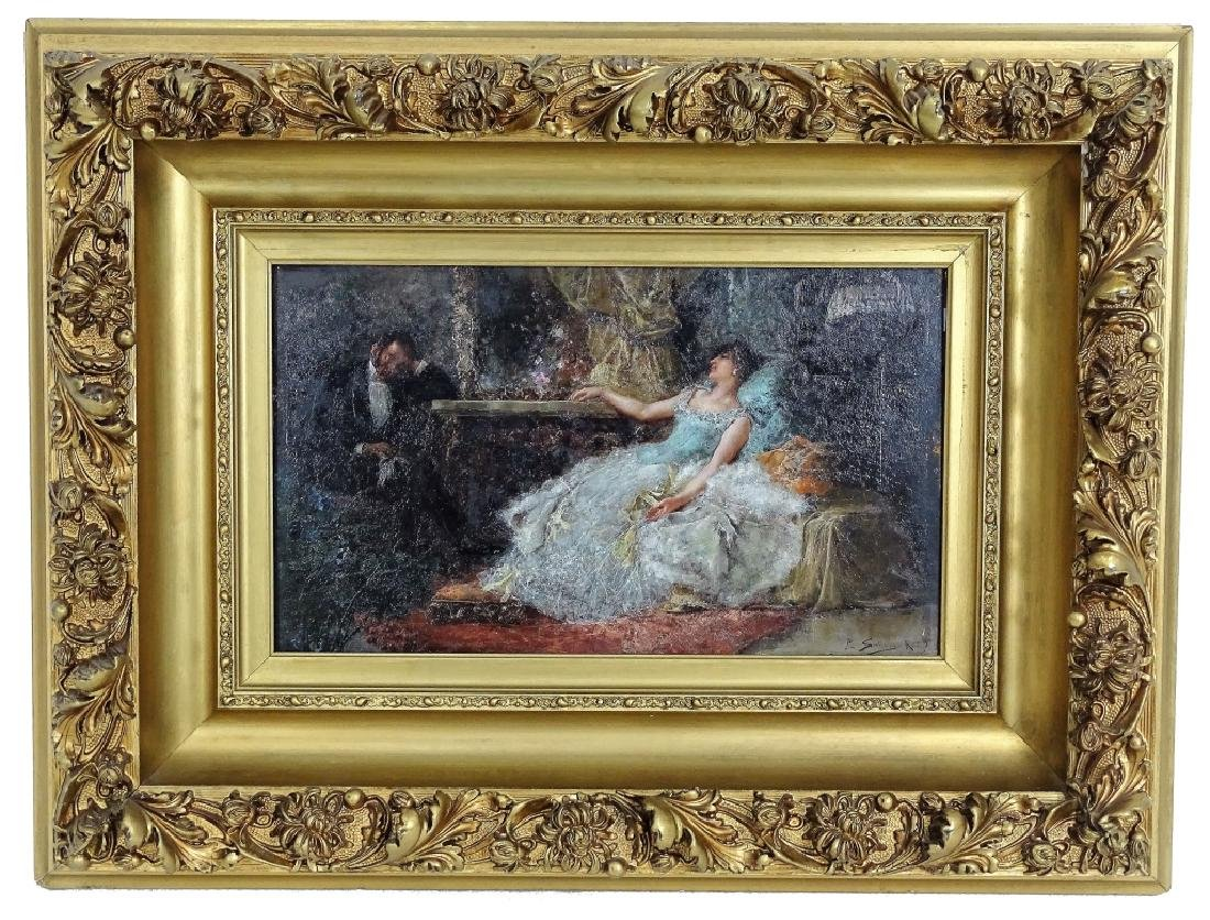 "Juan Pablo Salinas ""After The Ball"" Oil Painting - 7"