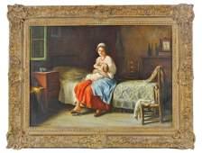 Giuseppe Magni Antique Italian Oil Painting