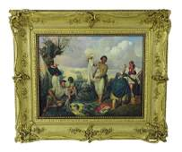 Attrib Adolf Jebens European Military Oil Painting