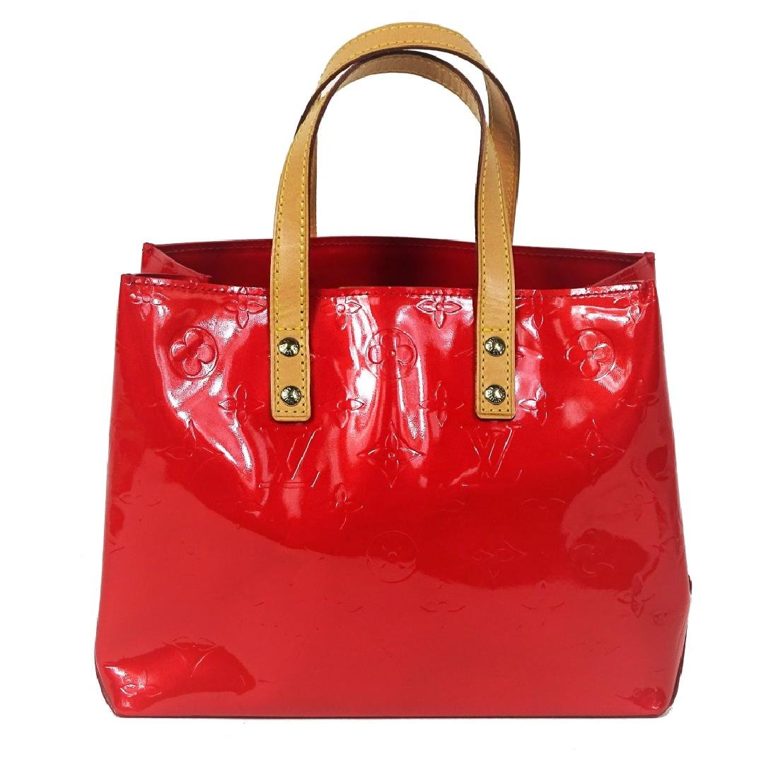 Louis Vuitton Red Vernis Leather Brentwood Tote