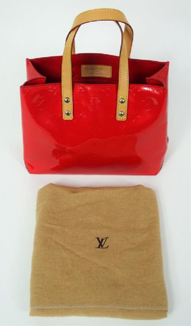 Louis Vuitton Red Vernis Leather Brentwood Tote - 5