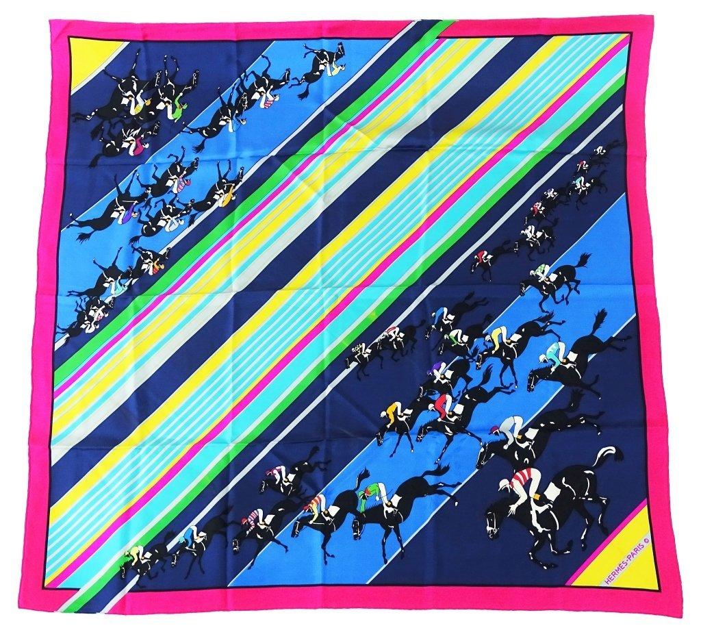 "Hermes Paris ""The Horse Race"" Silk Scarf"