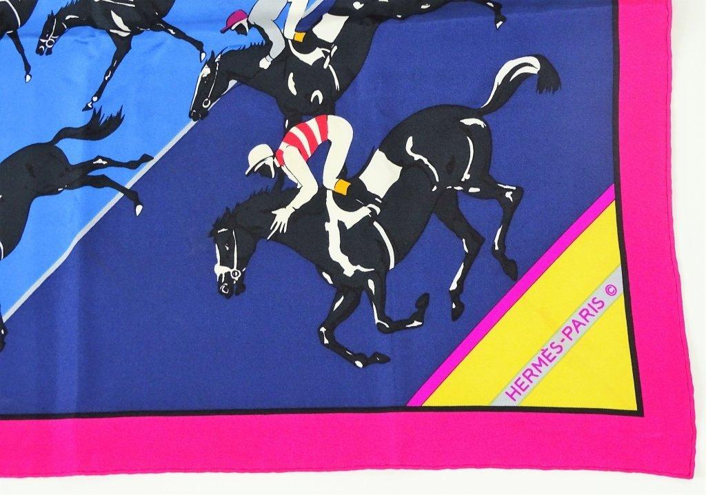 "Hermes Paris ""The Horse Race"" Silk Scarf - 2"