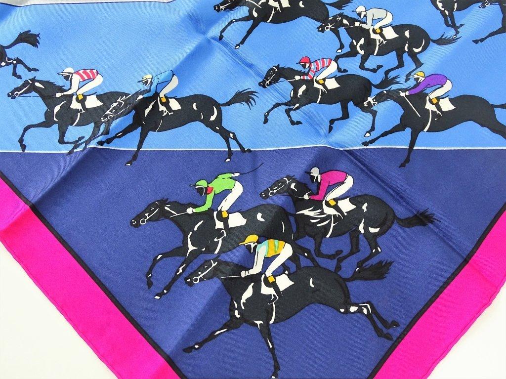 "Hermes Paris ""The Horse Race"" Silk Scarf - 3"