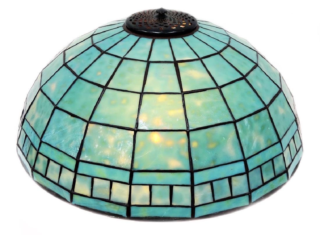 Tiffany Studios Geometric Blown Lead Glass Shade