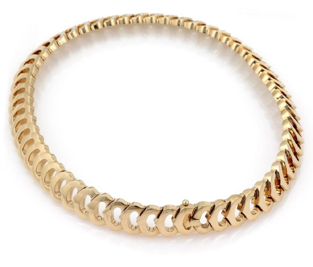 Cartier C Logo 2.75ct Diamond 18k Gold Necklace - 5