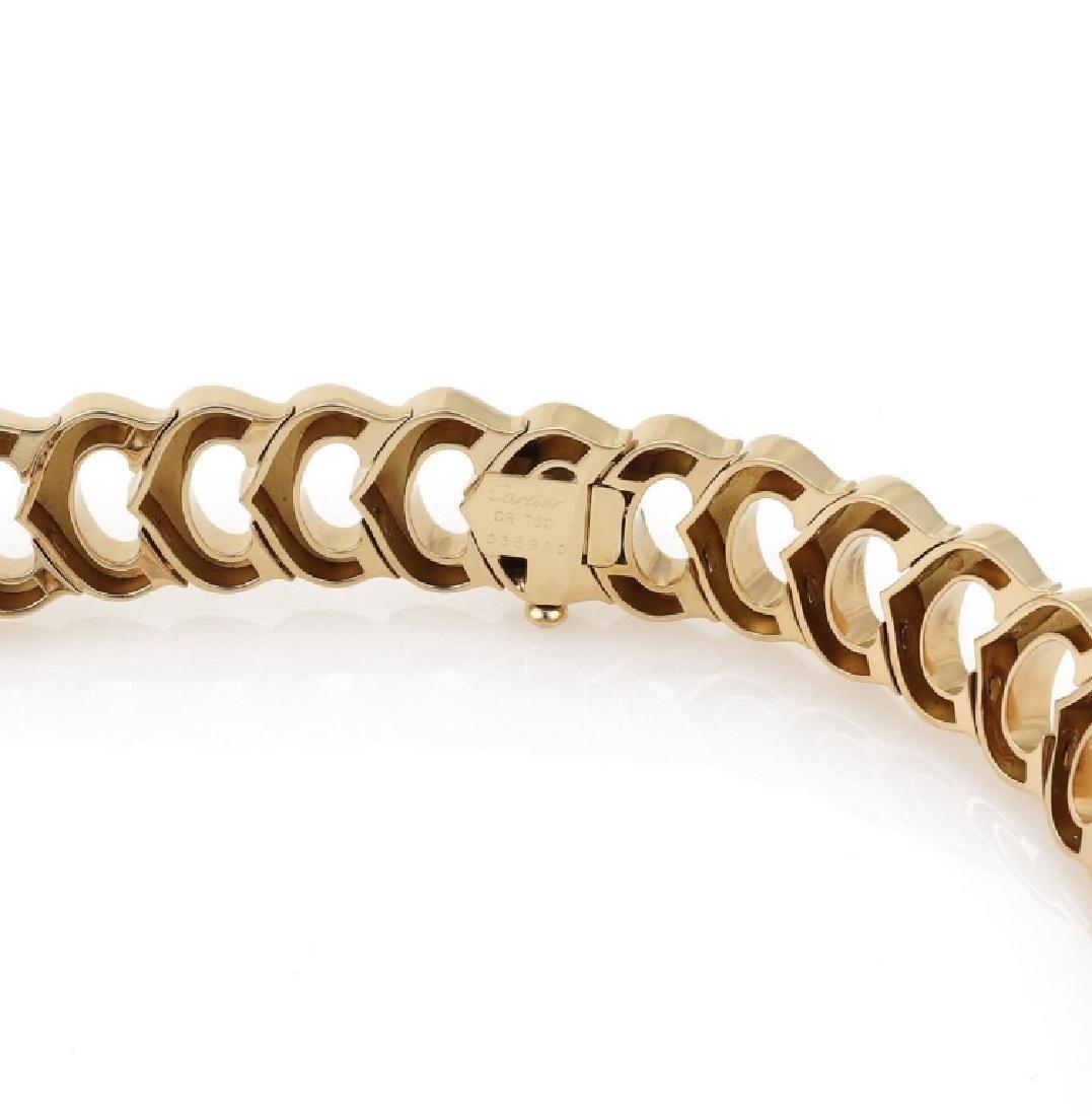 Cartier C Logo 2.75ct Diamond 18k Gold Necklace - 7