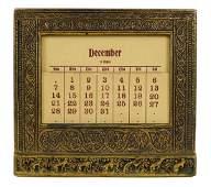 Rare Tiffany Studios Art Nouveau Bronze Calendar