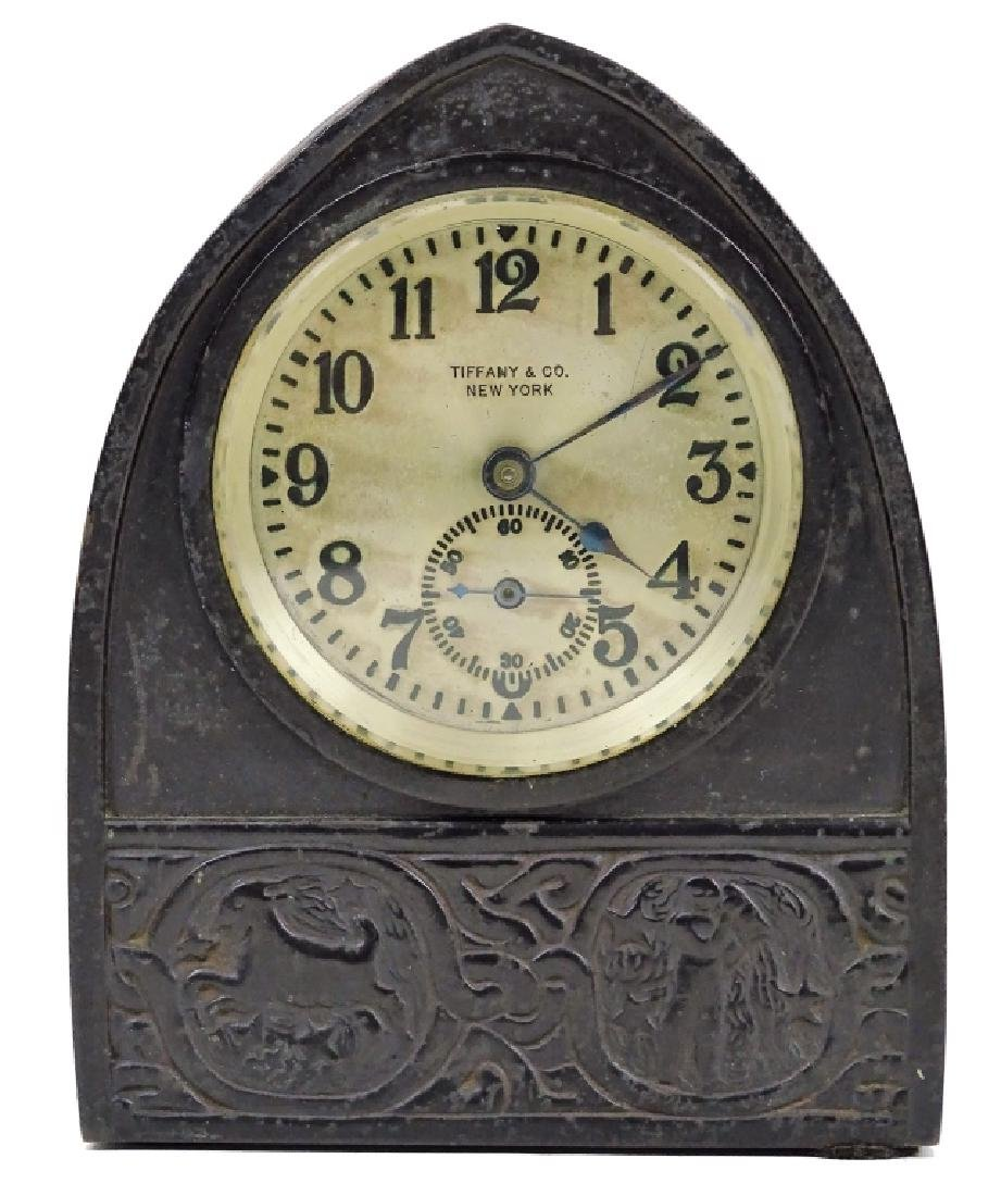 Tiffany Studios Zodiac Desk Clock Circa 1910