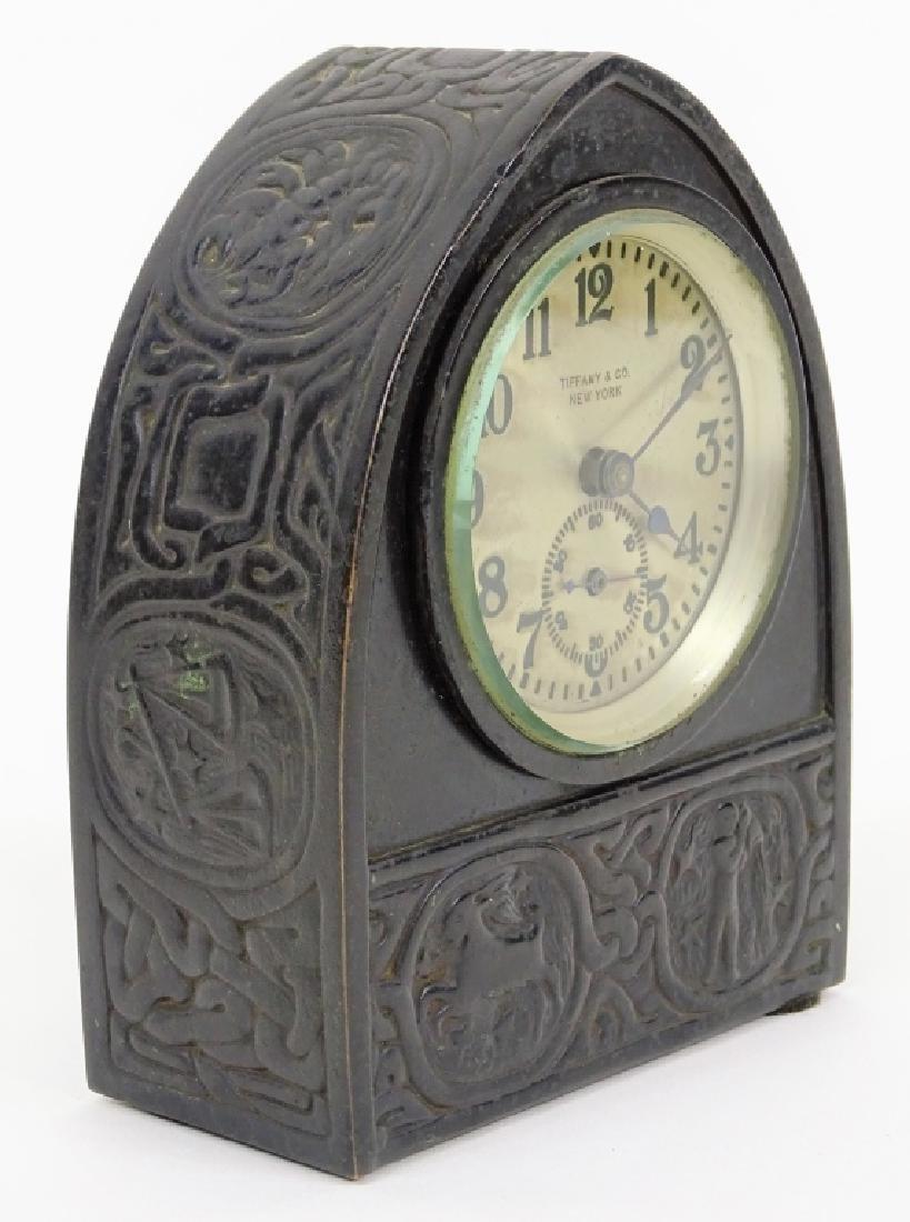 Tiffany Studios Zodiac Desk Clock Circa 1910 - 3