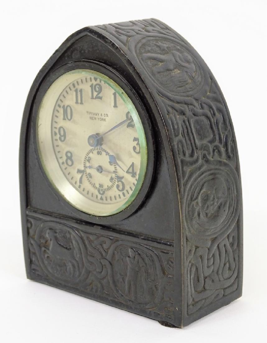 Tiffany Studios Zodiac Desk Clock Circa 1910 - 4
