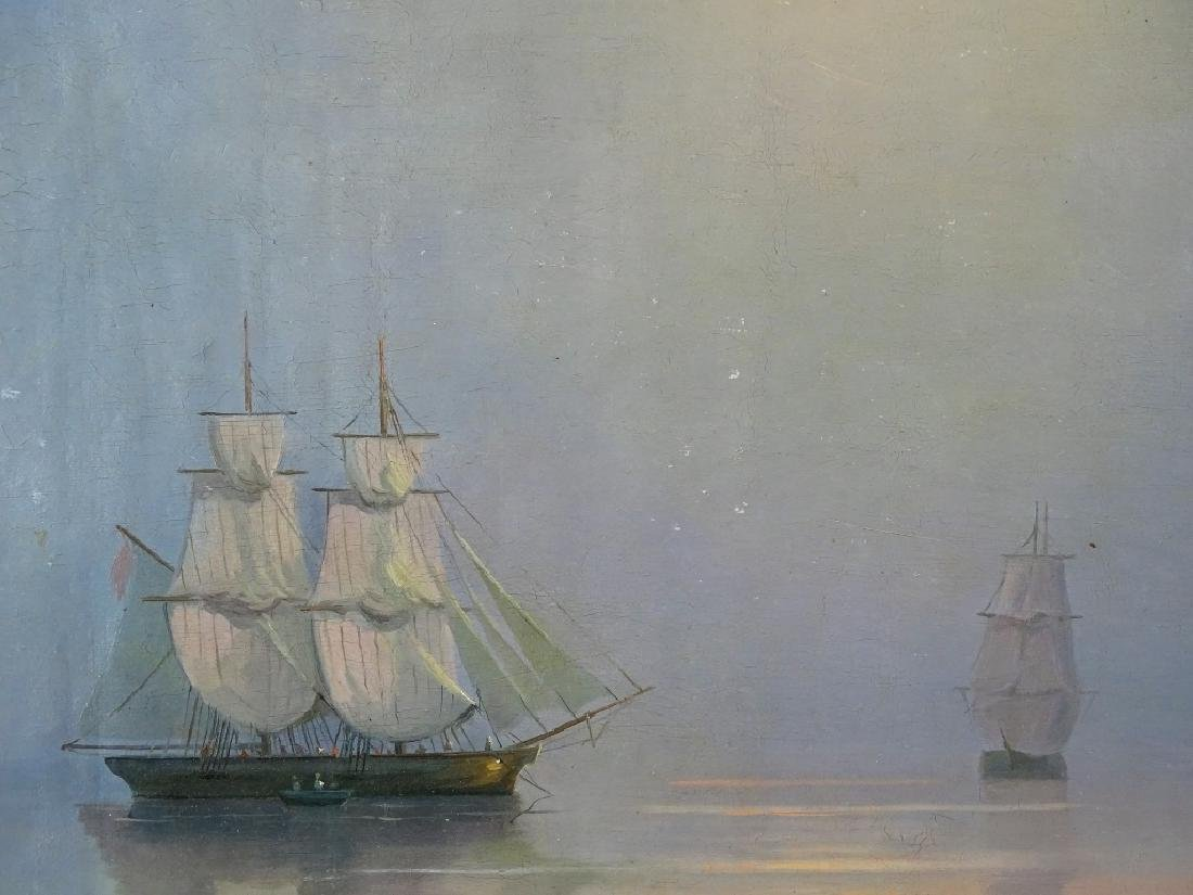 Attrib. to Ivan Aivazovsky Seascape Oil Painting - 3