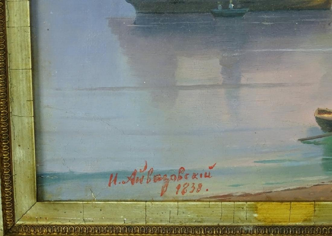 Attrib. to Ivan Aivazovsky Seascape Oil Painting - 5