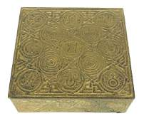 Tiffany Studios Zodiac Bronze Hinged Humidor Box