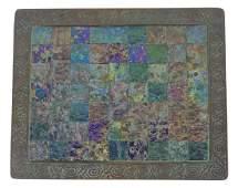 Rare Tiffany Studios Zodiac Iridescent Bronze Tray
