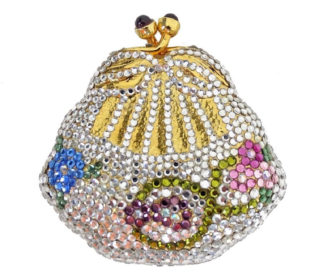 Judith Leiber Crystal Minaudiere Pill Box