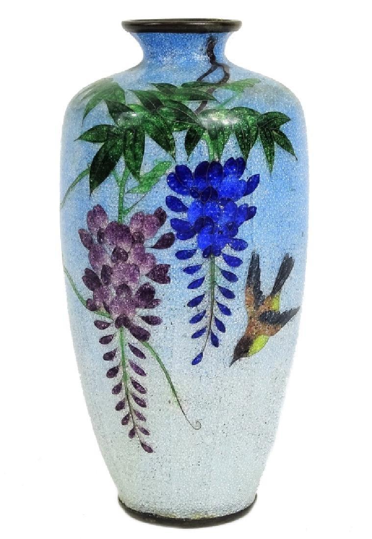 Japanese Enameled Cloisonne Bud Vase