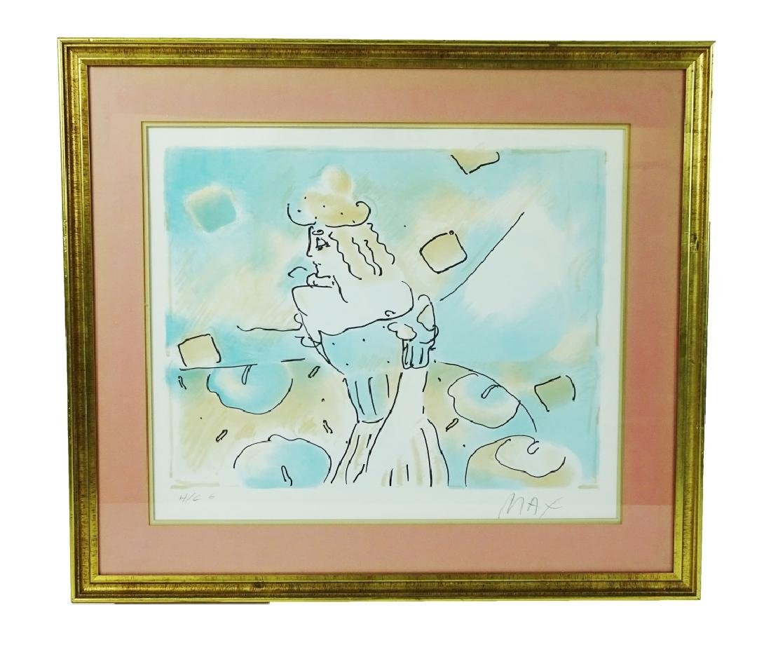 Peter Max Hand Signed Original Lithograph on Paper - 2