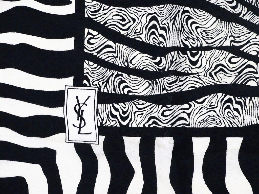 Yves Saint Laurent Zebra Print Silk Scarf - 2