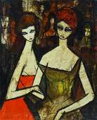Charles Levier FRENCH 19202003 Two Girls