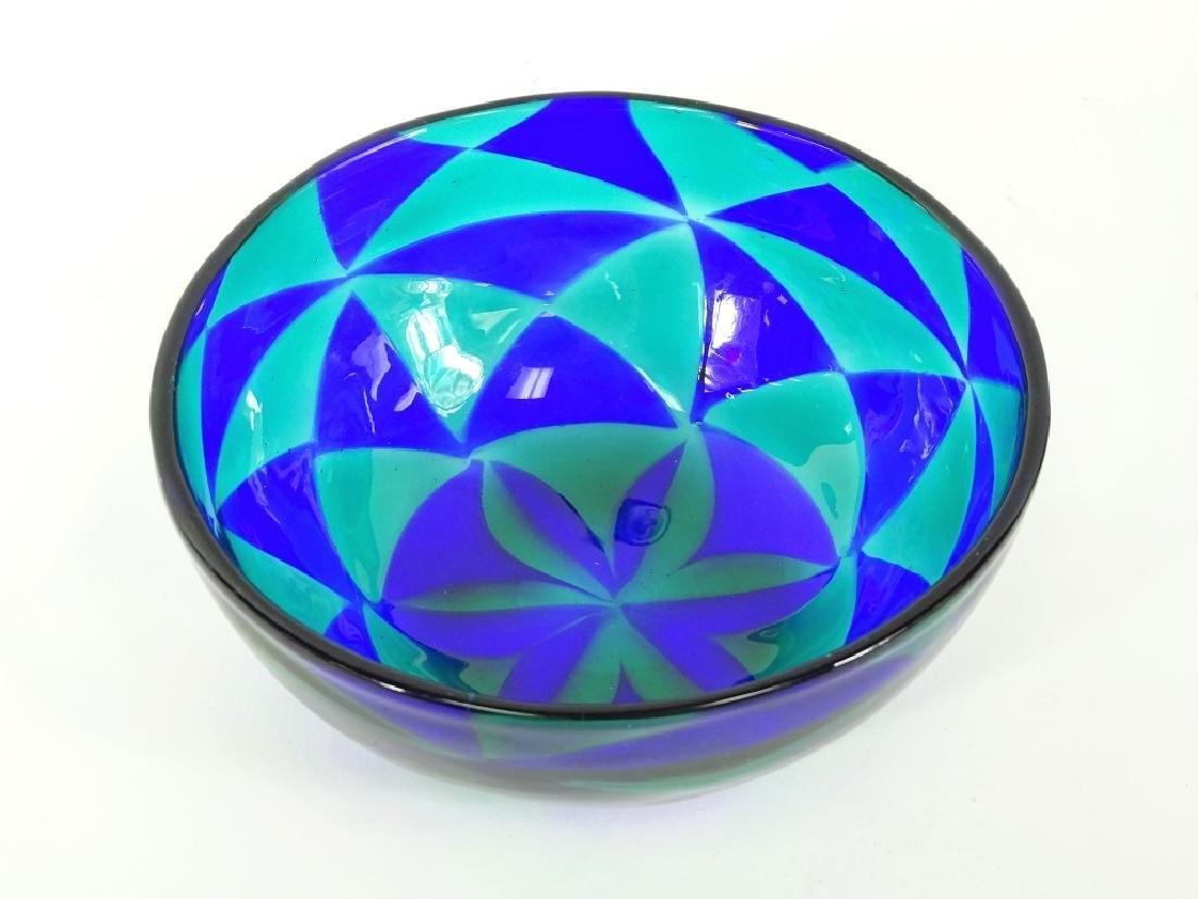 Barovier Intarsia Murano Patchwork Art Glass Bowl - 3
