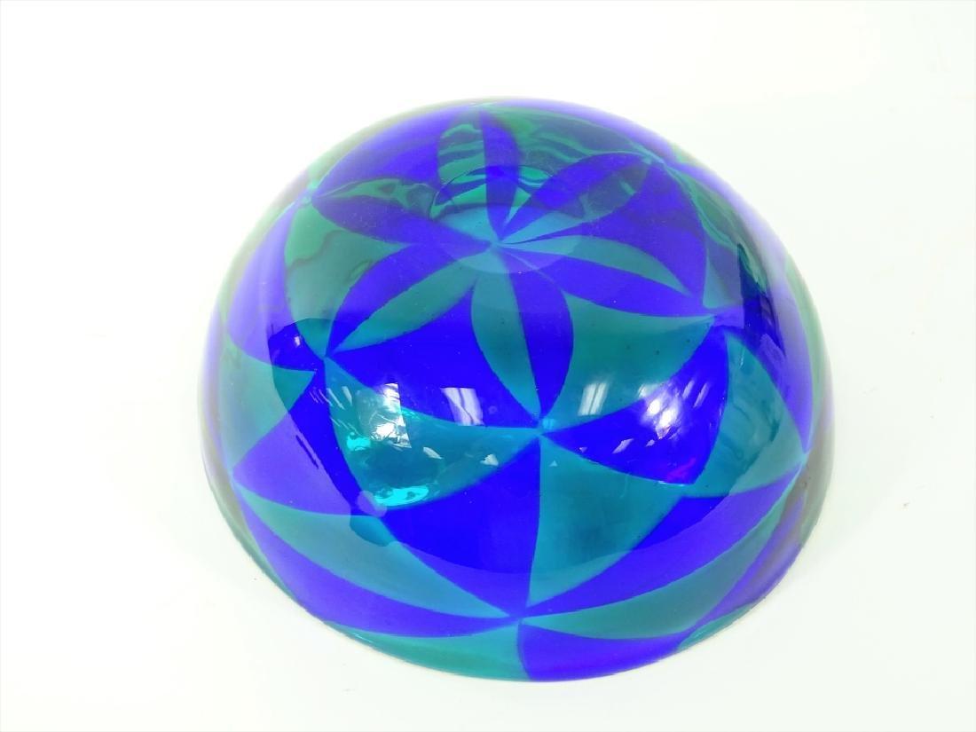 Barovier Intarsia Murano Patchwork Art Glass Bowl - 6