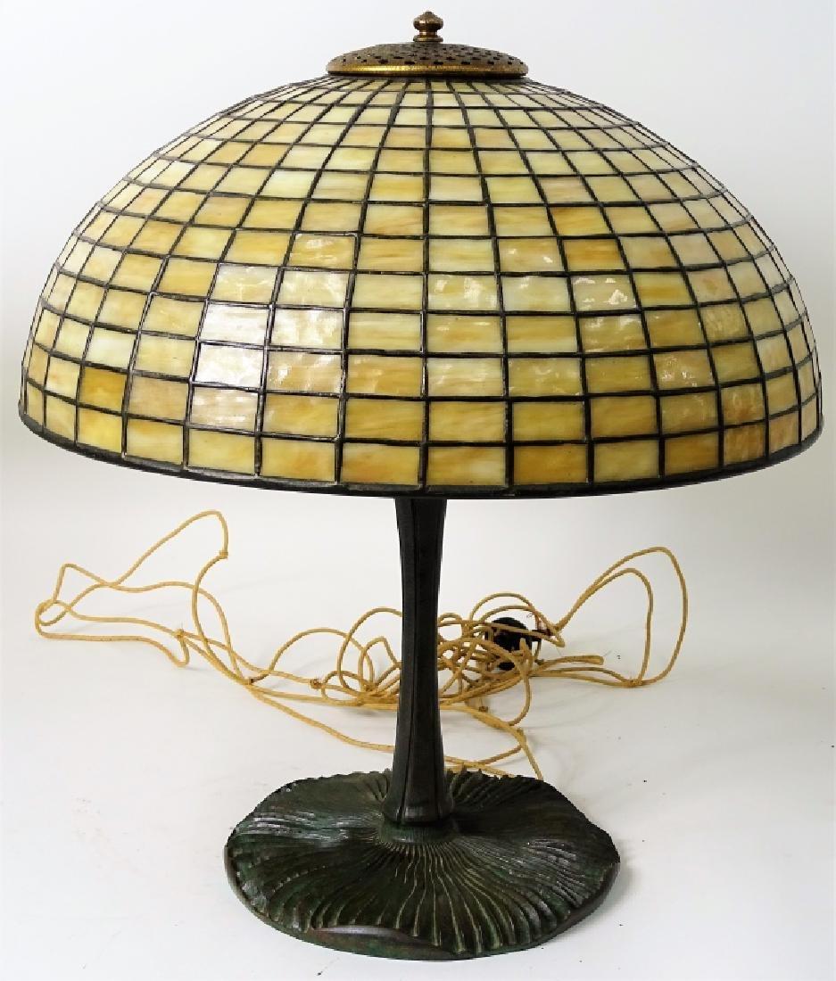 Tiffany Studios New York bronze mushroom table lam - 10
