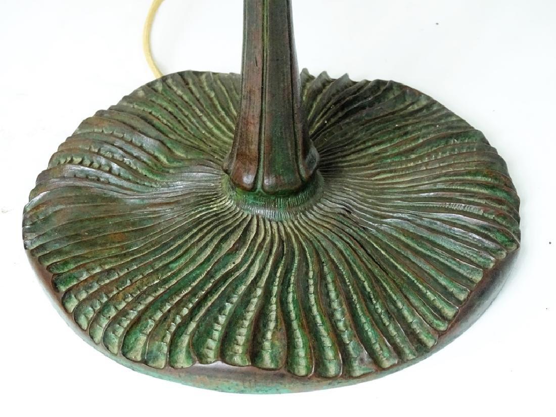 Tiffany Studios New York bronze mushroom table lam - 3