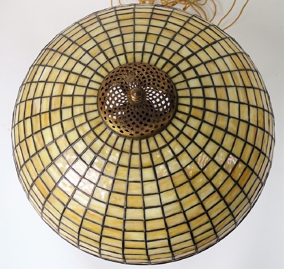 Tiffany Studios New York bronze mushroom table lam - 5