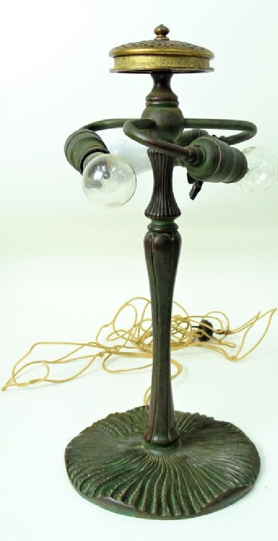 Tiffany Studios New York bronze mushroom table lam - 7