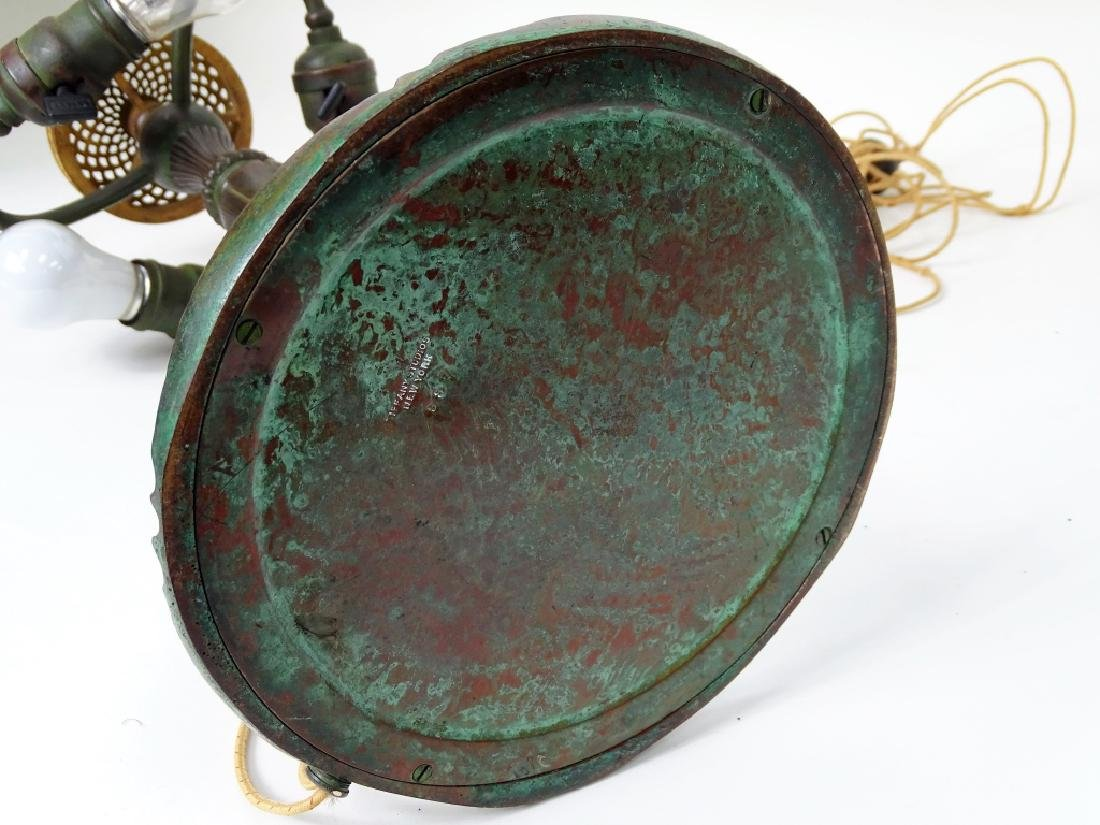 Tiffany Studios New York bronze mushroom table lam - 8