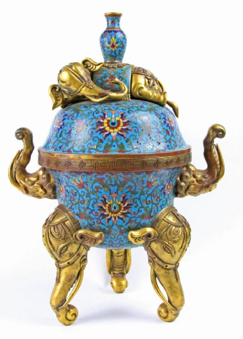Chinese Enamel incense burner of Qian Long in Qing
