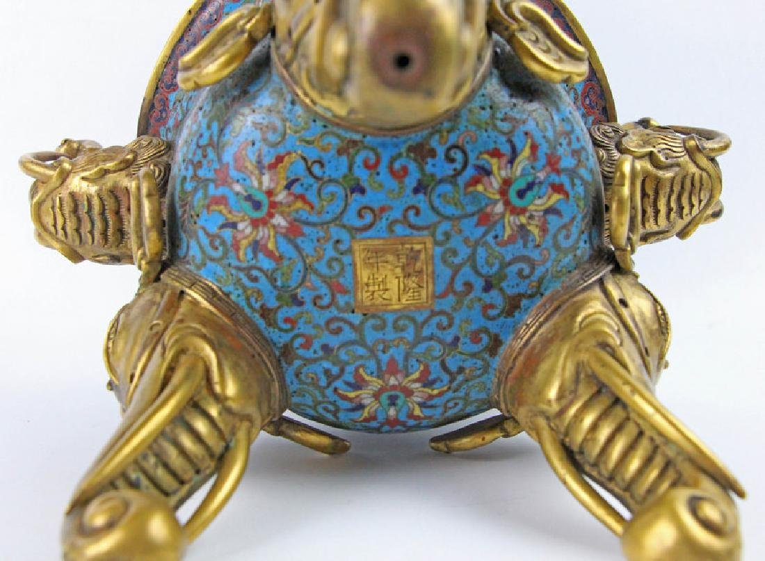 Chinese Enamel incense burner of Qian Long in Qing - 2