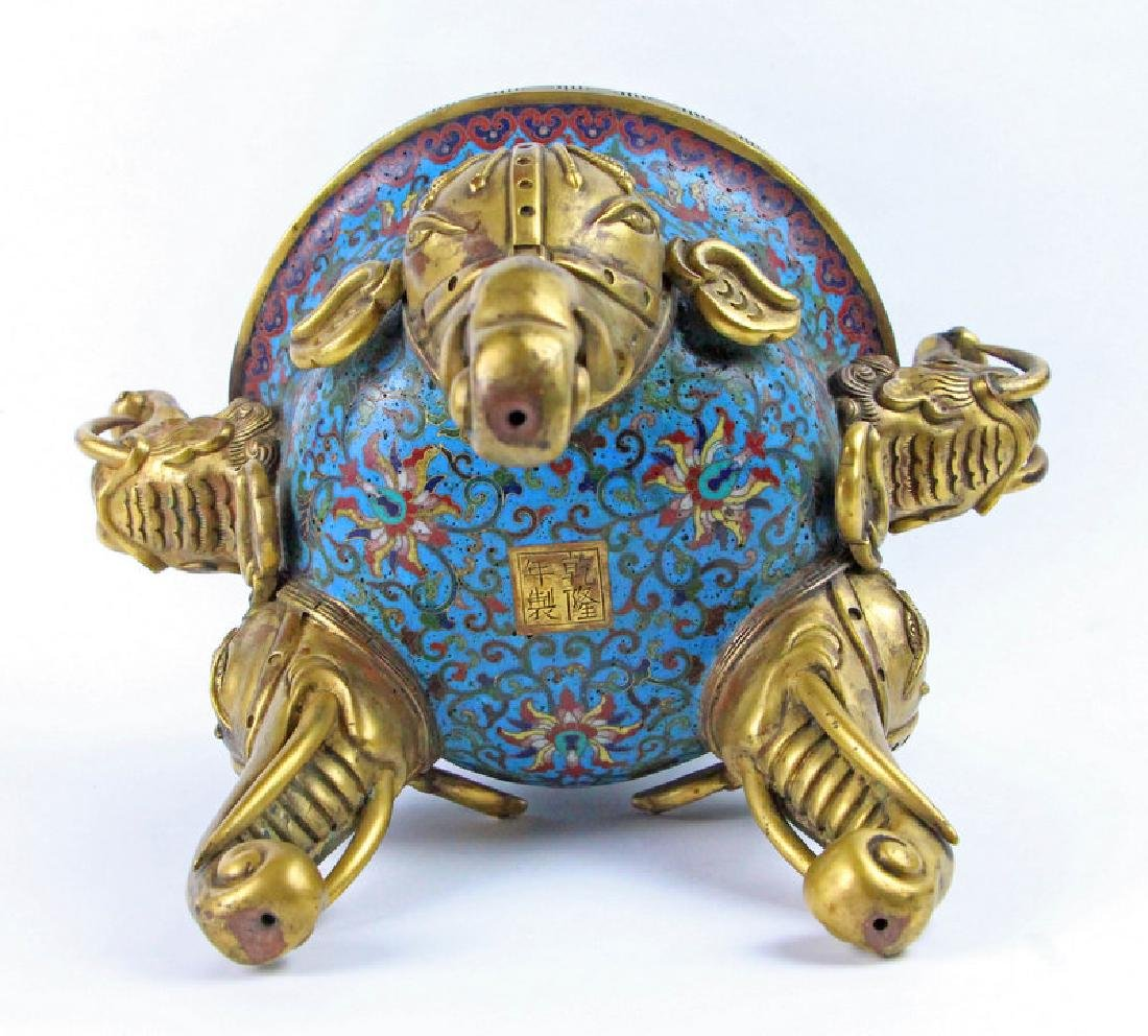 Chinese Enamel incense burner of Qian Long in Qing - 3