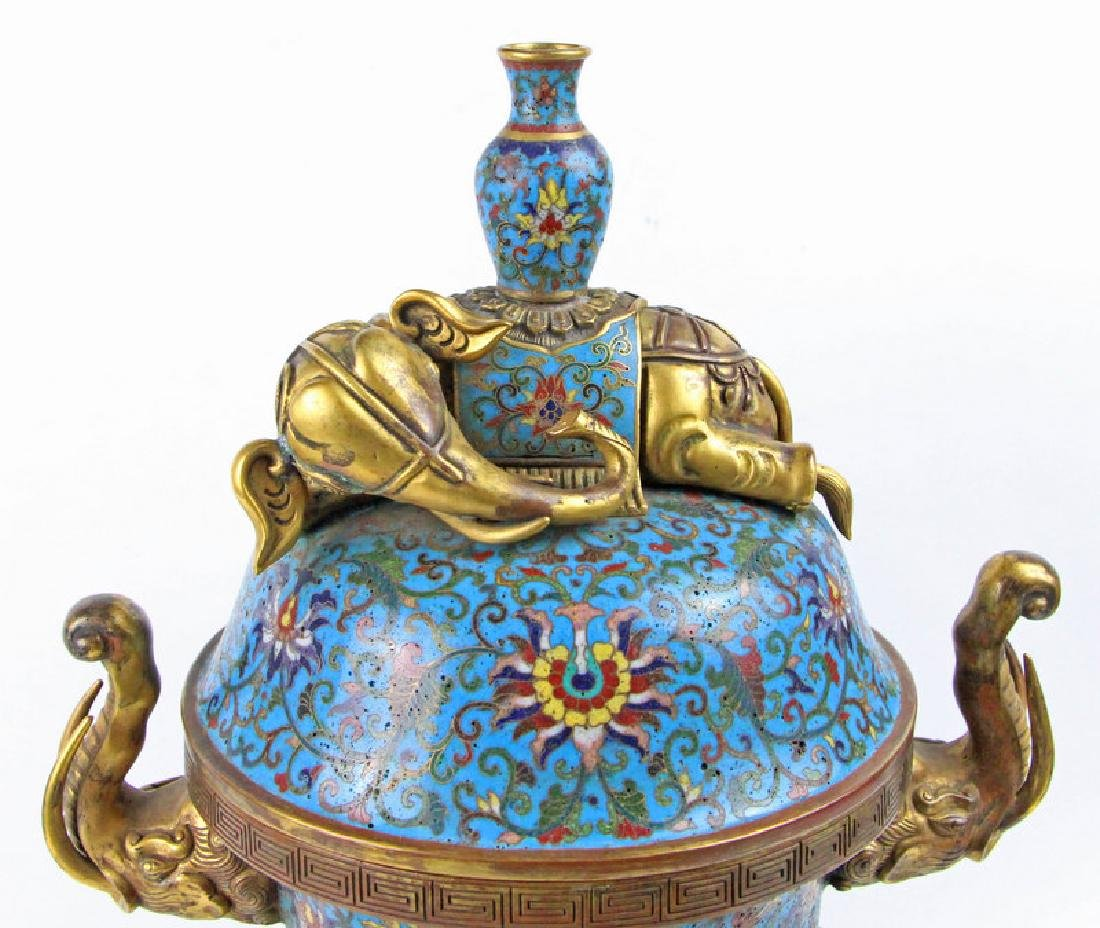 Chinese Enamel incense burner of Qian Long in Qing - 4