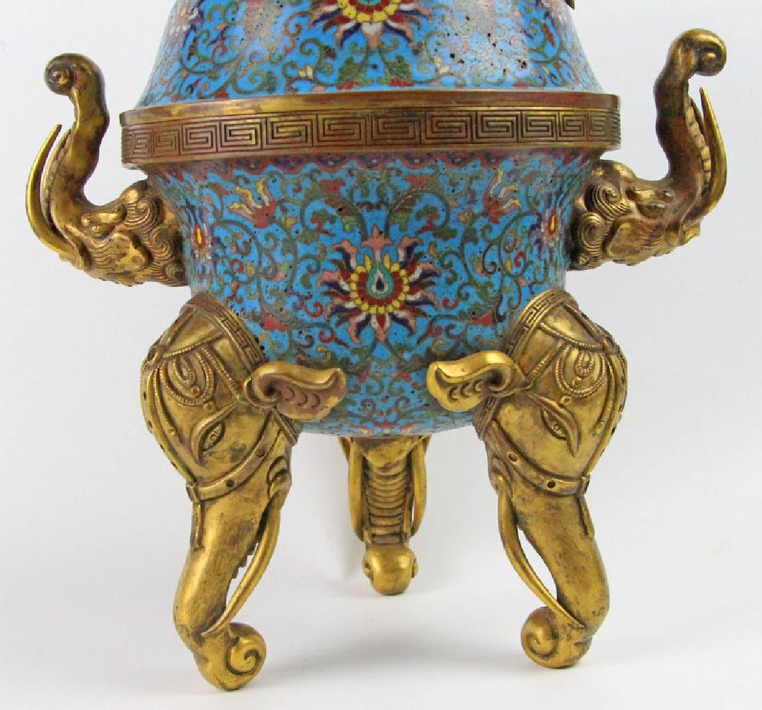 Chinese Enamel incense burner of Qian Long in Qing - 5